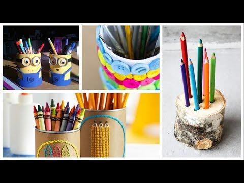 28 DIY Creative Pencil Holder Ideas