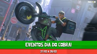 Recompensas & Eventos DIA DO COBRA | Free Fire