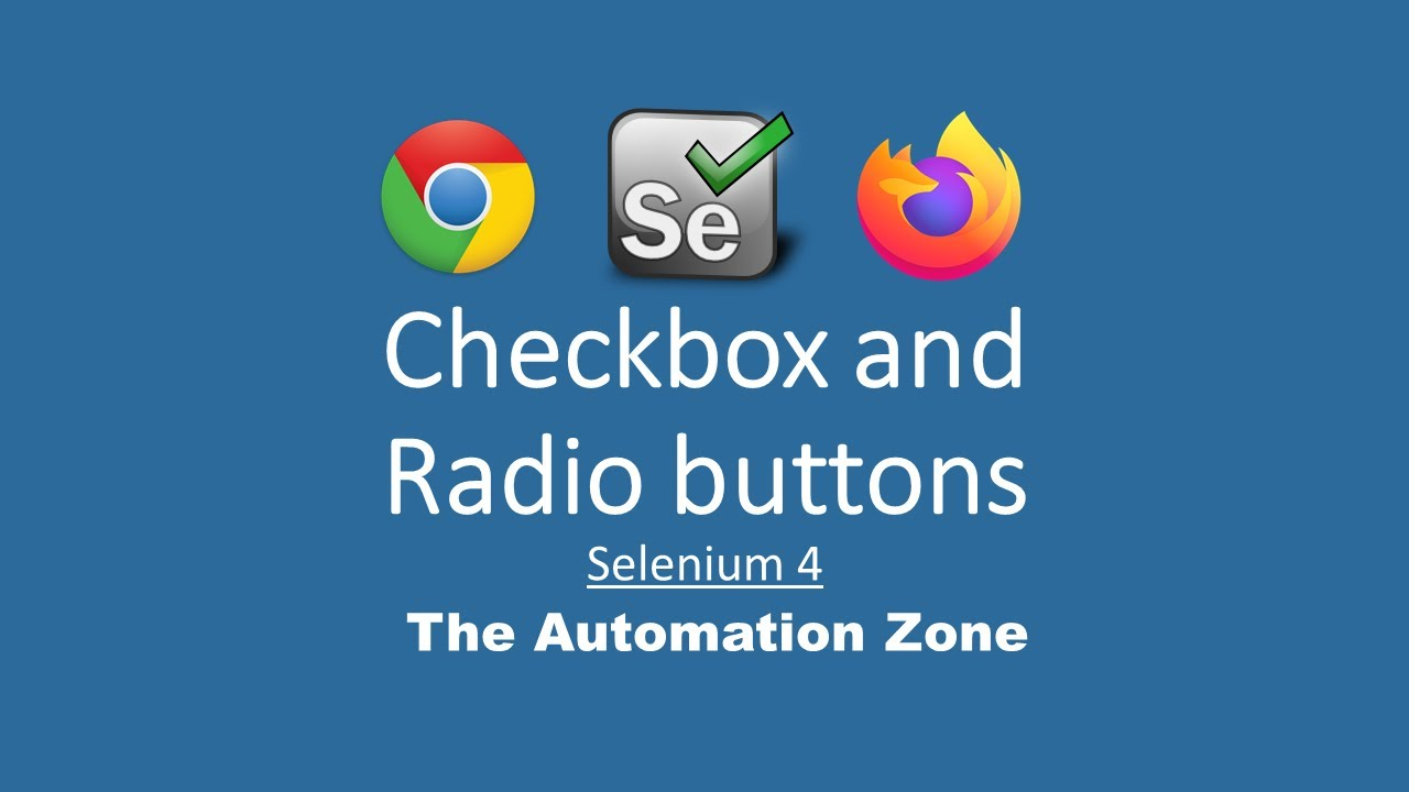 Radio buttons and Check boxes - Selenium 4 Tutorials