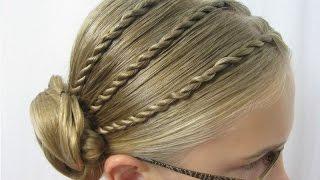 Детская прическа на праздник. Прически на длинные волосы.