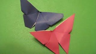 БАБОЧКА - Красивое Легкое  Оригами для начинающих с комментариями. Видео