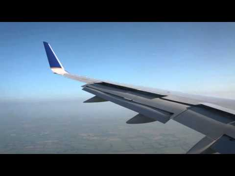 Dublin, United Airlines UA126 landing and taxi