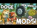 Scrap Mechanic MODS! - CRAZY NEW WHEELS, DOGE & MORE!!! [#1] W/AshDubh | Gameplay |