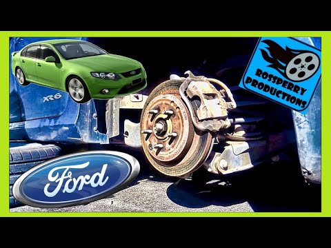 How to Change Ford Falcon Rear Brakes Brake Pad - Replacement Tutorial, DIY, FG BF, XR6, XR8