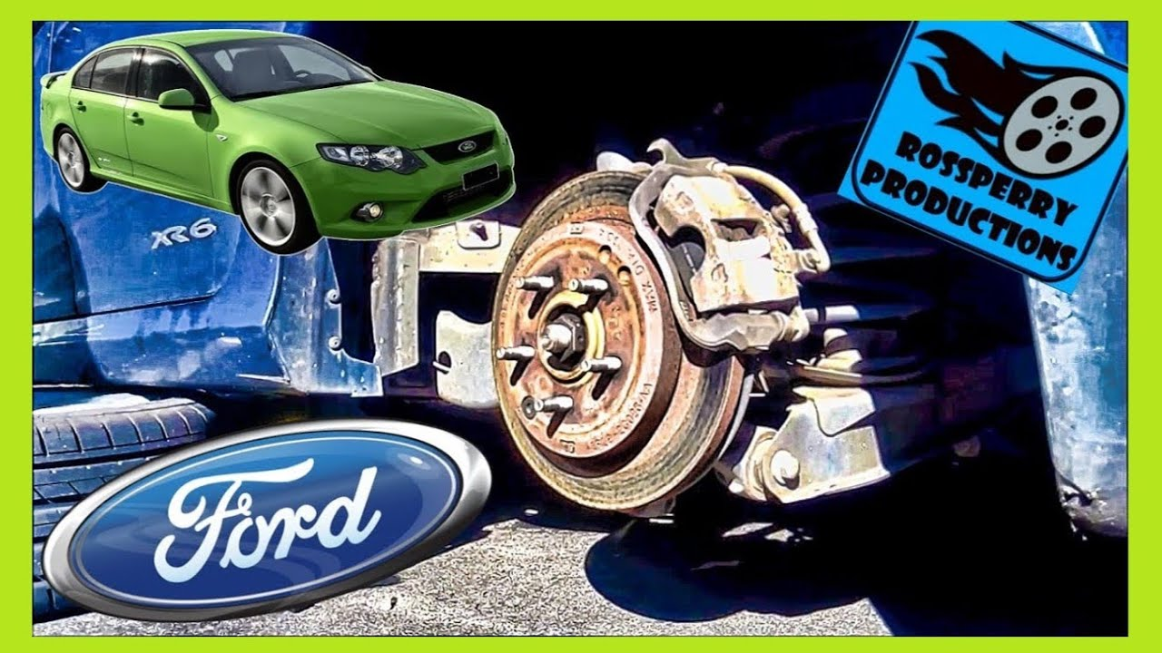 How to Change Ford Falcon Rear Brakes Brake Pad  Replacement Tutorial, DIY, FG BF, XR6, XR8