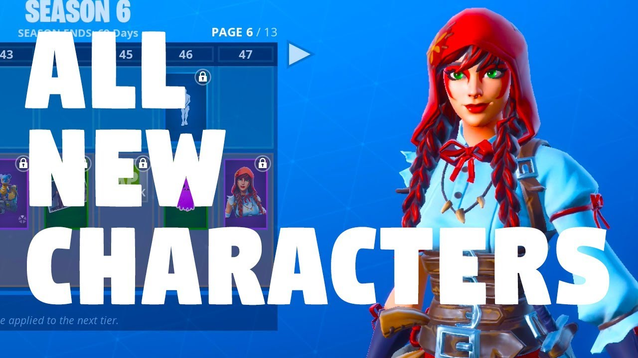 FORTNITE SEASON 6 ALL NEW CHARACTERS - SKINS - YouTube