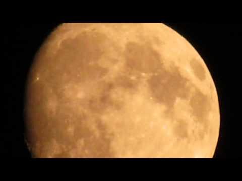 Yellow Moon  in a smoky night of Calgary, Alberta, Canada. Canon SX40HS