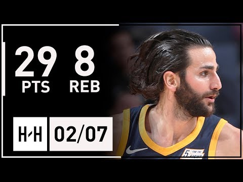 Ricky Rubio Full Highlights Jazz vs Grizzlies (2018.02.07) - 29 Points, 8 Reb, TOO GOOD!