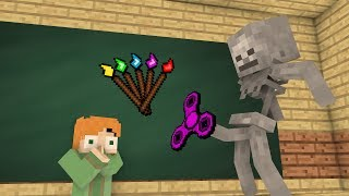 Monster School Mobs Fidget spinner Challenge Drawing Minecraft Animation