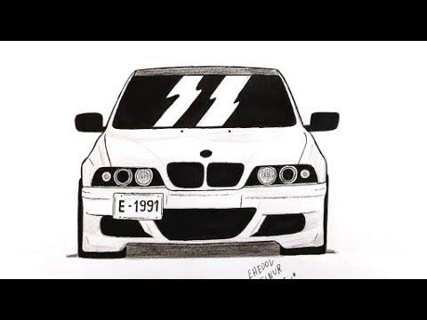 Как нарисовать машину BMW E 39 поэтапно (Ахадов Эльнур)