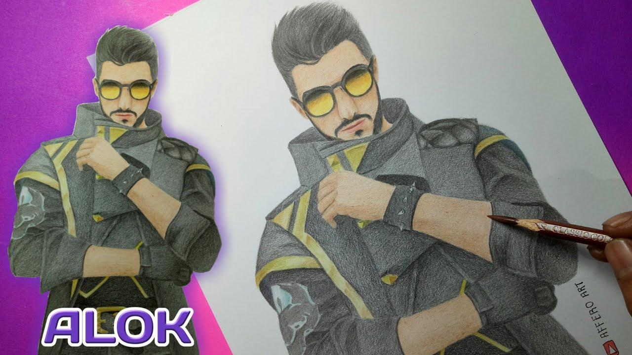 Menggambar Dj Alok Drawing Character Free Fire Gambar Karakter Free Fire Youtube