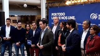 """Teodoro García Egea, """"esperanzado"""" con las expectativas, llama a votar al PP"""