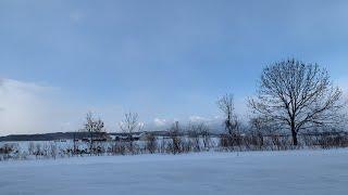 JR北海道・多寄駅から見る冬の風景(北海道士別市)