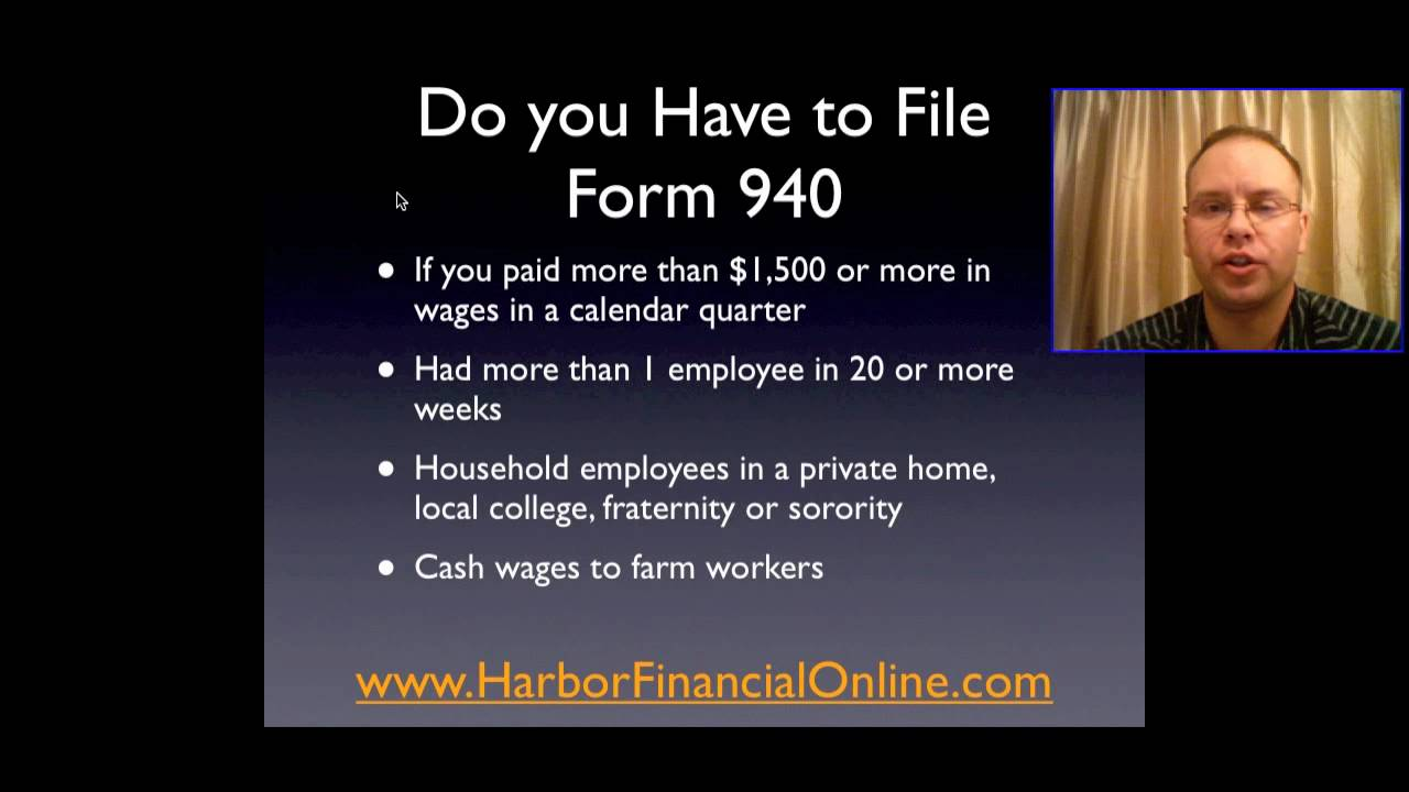 IRS Tax Form 940 Instructions for 2012, 2013 - YouTube