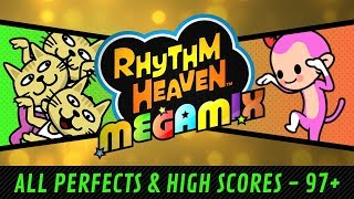 Rhythm Heaven Megamix - All Perfects / High Scores (60 fps)