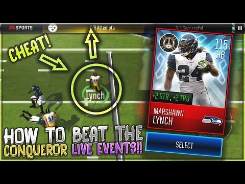 INSANE CHEATS to BEAT CONQUEROR HARD LIVE EVENTS!? TREACHEROUS BREAKDOWN! MADDEN MOBILE 18