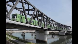 おおさか東線 神崎川鉄橋通過 & 南吹田駅発車