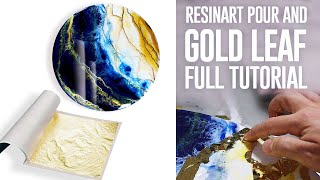 Resin pour and gold leaf | RESINART TUTORIAL |