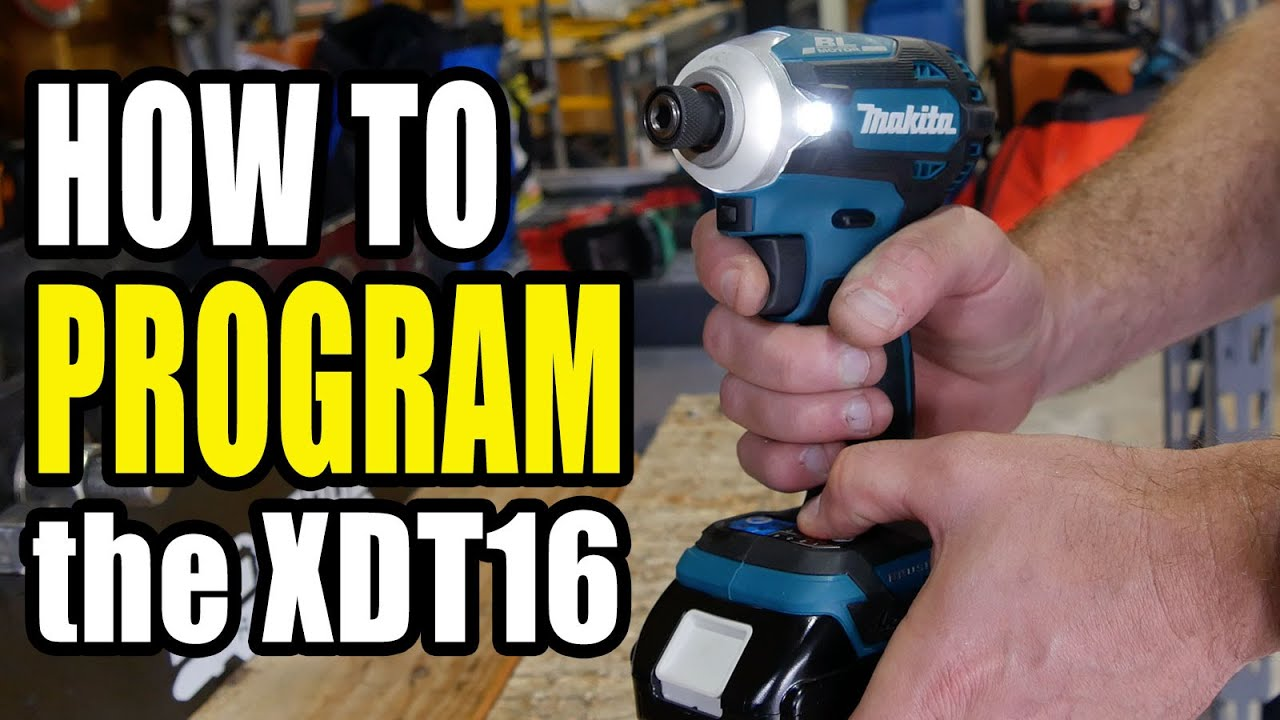 How to Program the Makita XDT16 Impact Driver - Step by Step