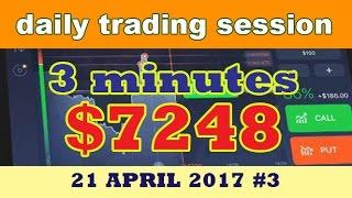 Binary Option Strategy 2017 IQ Option 3 Minutes Trading $7248 Amazing Profit