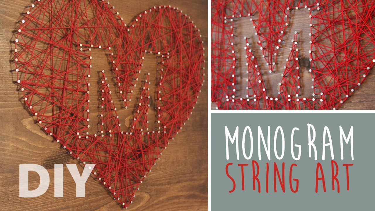 Diy monogram string art artsypaints youtube solutioingenieria Choice Image