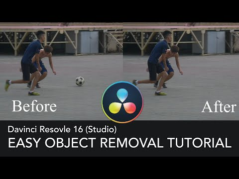 Davinci Resolve 16  - 103 - Easy Object Removal Tutorial (FASTEST)