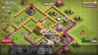 Clash of Clans:Estrategia de push de cv6, mostrando vila