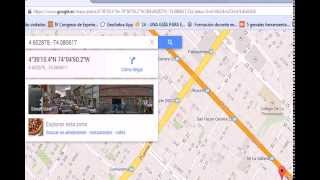 Google maps: Coordenadas Geográficas