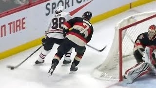 Kane hits Anisimov with amazing no-look pass
