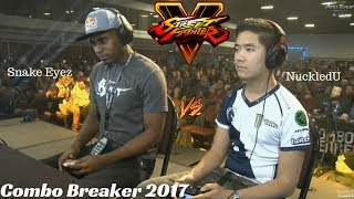 Combo Breaker 2017: Snake Eyez vs Justin Wong [Street Fighter V Top 8]