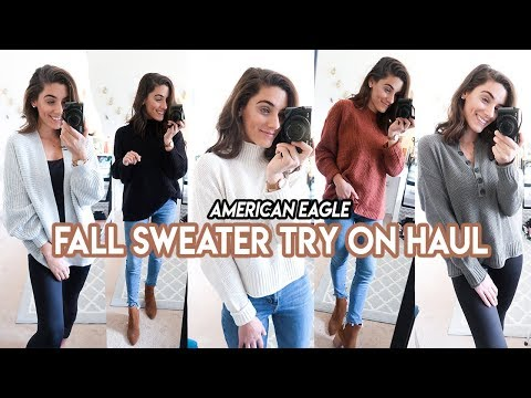 AMERICAN EAGLE TRY ON HAUL | FALL SWEATERS