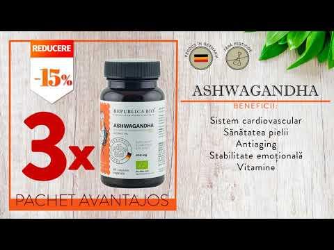 ASHWAGANDHA BIO Complet, pachet promotional, cura completa pentru 3 luni, BIO, RAW, VEGAN