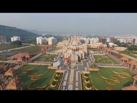Bird-View BAPS Swaminarayan Mandir Pune