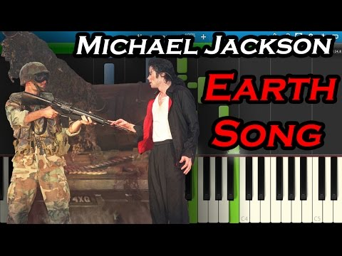 Michael Jackson - Earth Song [Piano Tutorial] Synthesia