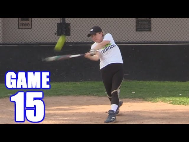 SAM HOMERS IN HER FIRST AT-BAT EVER! | On-Season Softball Series | Game 15