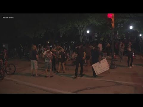 Austin protests: Driver causes disruption at APD HQ, protest