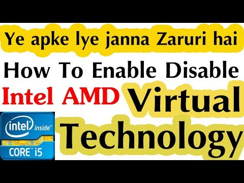 What is VT-X || How to Enable Disable Intel AMD Virtual Technology || Windows 7 8 8.1 10
