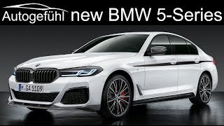 New BMW 5-Series Facelift 2021 update Exterior Interior changes - M550i and...
