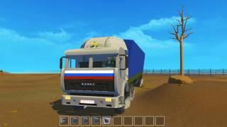 Scrap Mechanic мои постройки КамАЗ-54115 из сериала дальнобойщики 1сезон.