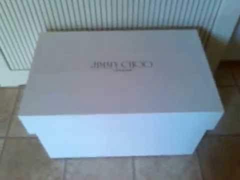 Oversized Jimmy Choo Shoebox * Trainers Shoe storage Cabinet White / beige