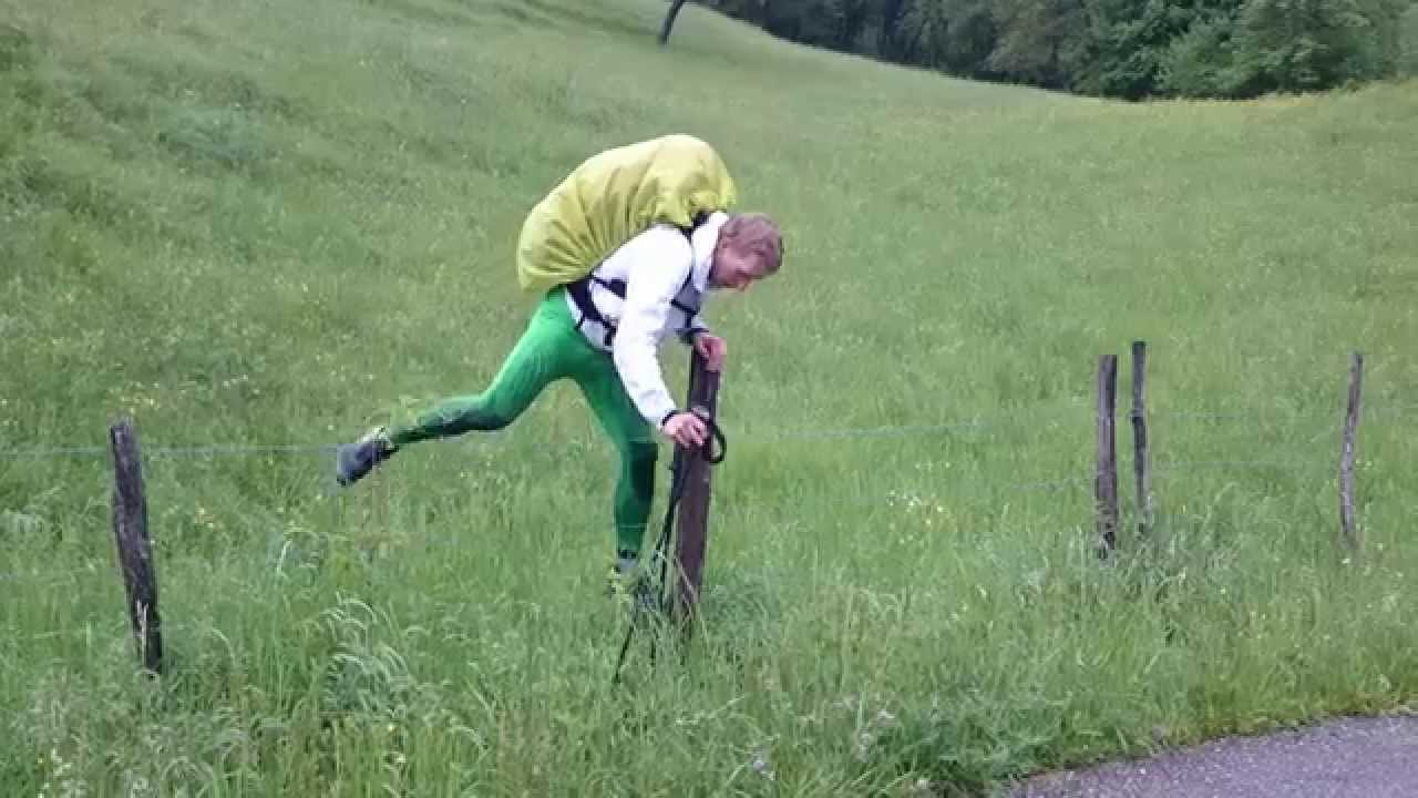 Funny Moment During Hiking On Bornes To Fly 2015 Youtube