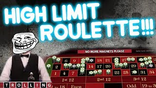 HIGH Stakes Roulette SICK Loss or SICK Win???