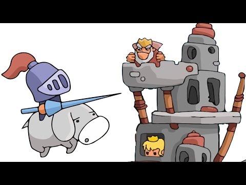 Мультики про Игры Для Детей. Мультик про Принцесс и Рыцарей - Игра История Сила Любви