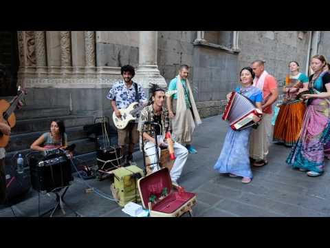 Harinama Jam in Genova