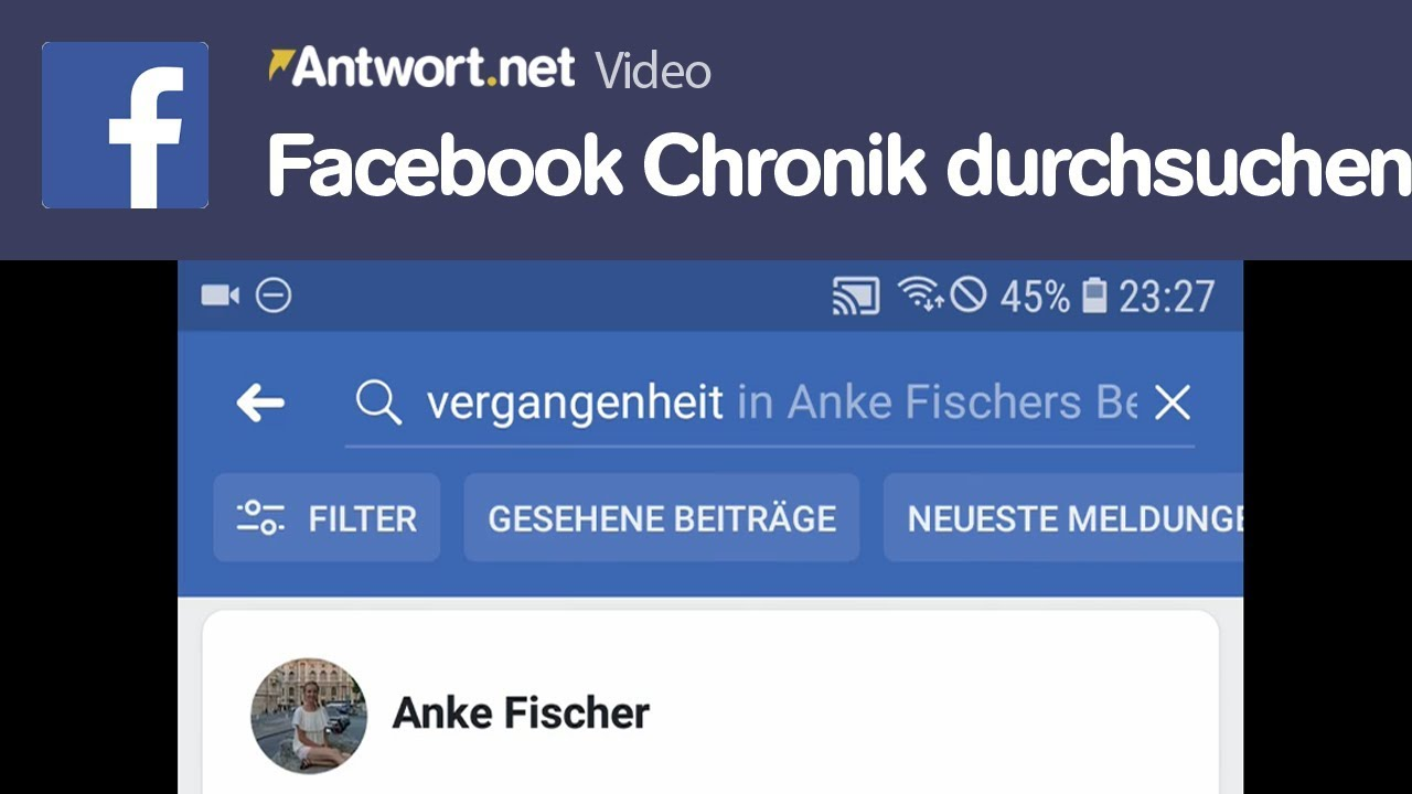 Facebook Chronik Durchsuchen