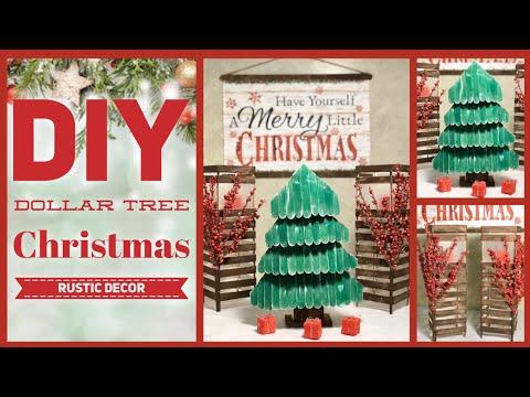 Dollar Tree DIY Rustic Farmhouse Christmas Decor Ideas 2019 - Simple Lantern, Tree & Sign Crafts