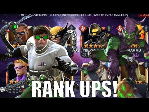 Green Goblin, Doctor Octopus, Star Lord Rank Up + More! - Marvel Contest Of Champions