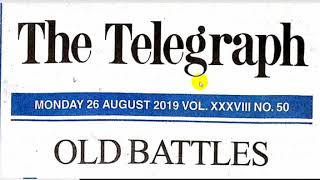 News Paper II Editorial on Csate Humiliation on Telegraph on 26.9.19