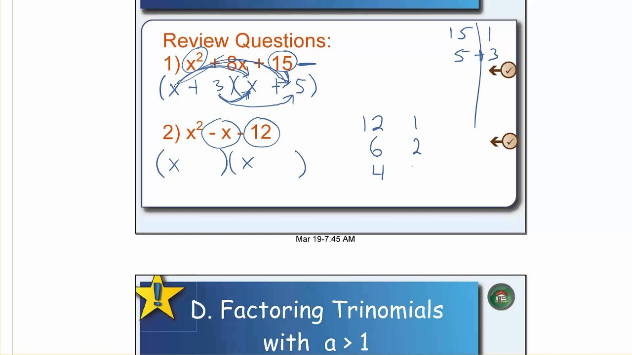 medium resolution of Quadratic Equations - Mr. Brown's Website