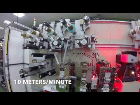 SYCO Rotary Die Cutting Machine | ISLAND PLACEMENT WITH FINAL PARTS PITCH 38 1MM